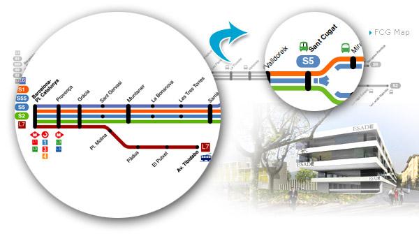 mapa de acceso